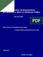 Manual No Ortodoxo de Manteni,Iento de Luminarias