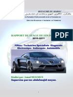 RAPPORT DE STAGE DE FIN FORMATION - Diagnostic Électronique Embarquée Automobile