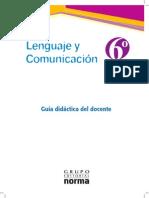 lenguaje y Com 6º guia profesor