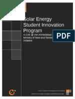 IIMA Solar Innovation Entrepreneurship Incubation Write Up Charmie Hara 04-10-2007