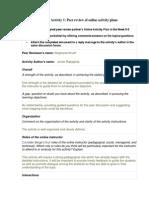 depd 101 wk 6 activity 1 activity plan peer review