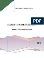 Marketing Menadzment - Skripta Za Finalni Test