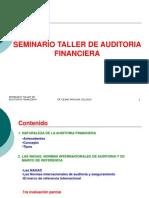 Clase de Introduccin Sdeminario Taller de Auditoria Financiera