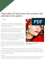 Veja oração de Santa Sara Kali, protetora das grávidas e dos ciganos - Terra Brasil