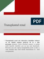 Transplantul Renal