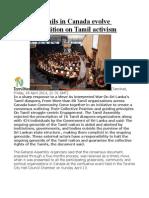Eezham Tamils in Canada evolve common position on Tamil activism