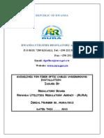 Guidelines Fiber Optic Cables Underground Installation