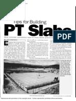 Tips for Building PT SLABS