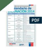 Calendario vacunas 2014