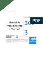 Manual de Procedimientos - CACOO