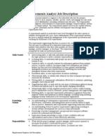 Requirements Analyst Job Description