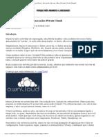 ownCloud - Em poder de suas mãos (Private Cloud) [Artigo]