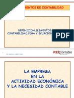 f. Fundamentos de Contabilidad,Pcga,Ecuacion Contable