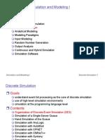 Discrete Event Simulation Modeling