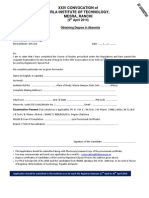 Application Form_XXIII Convocation B