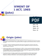 The Payment of Bonus Act, 1965 (John)