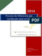 Proceso de Obtencion de Certificados Ante El SAT 2014
