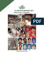 Human Rights Report 2013 - Odhikar Report on Bangladesh