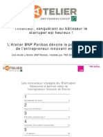 Etude Les Nouveaux Visages Du Startuper l Atelier Bnpparibas