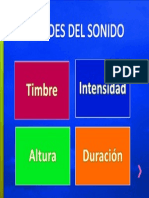 1° - CUALIDADES DEL SONIDO