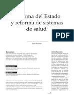 Reforma Del Estado y Reforma de Salud- Celia Almeida