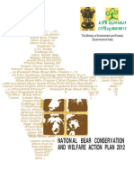 National Bear Conservation Action Plan for India