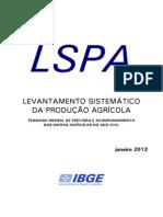 Levantamento Sistematico da Produção Agrícola_2013