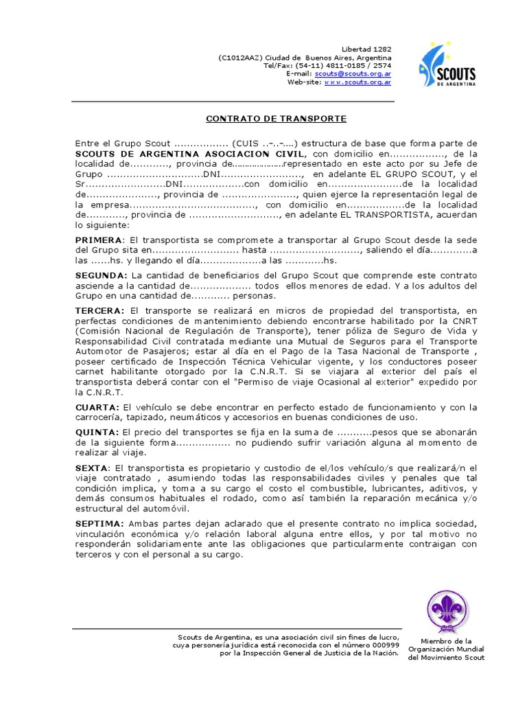 Modelo Contrato de Transporte (Nov05)