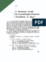 A doutrina social da Constituição Pastoral Gaudium et Spes