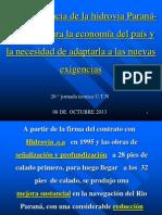 20ª Jornada Tecnica. Presentacion de Gustavo Deleersnyder