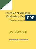 """Los """"Tonos en el Mandarín, Cantonés y Español"""" por Isidro Lam"""
