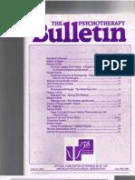 Psychotherapy Bulletin, 27(3) Fall 1992-1993