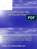 classificao dos crimes