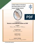 Mostrar Tablas Con PHP