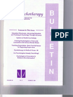 Psychotherapy Bulletin 29(2) Summer 1994