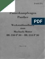 Panzerkampfwagen Panther Werkstatthandbuch vom 1.5.1944