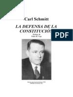 Carl Schmitt- La defensa de la Constitución