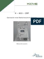K803CRFCavitaciónyRadiofrecuenciaManualdeUsuario