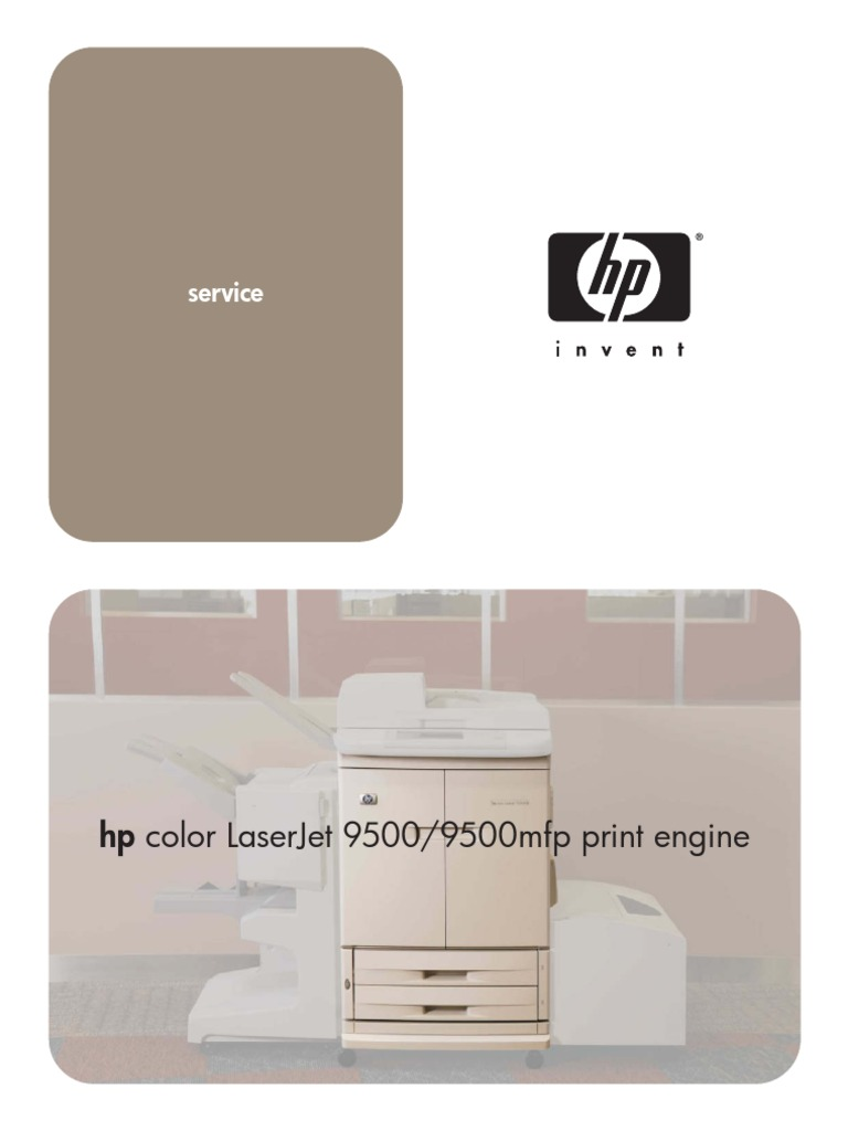 HP Color LaserJet 9500 9500 MFP Service Manual | Manufactured Goods |  Computer Engineering