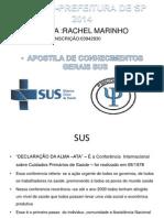 slides SUS Psicóloga  Rachel Marinho