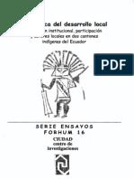 La Politica Del Desarrollo Local 01-Ramirez