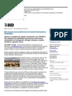 Ciudades Emergentes y Sostenibles - BID Memorando