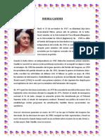 Biografia de Indira Ghandi