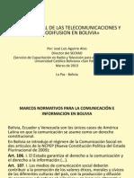 Regulación de la radiodifusión en Bolivia - José Luis Aguirre 2013.ppt