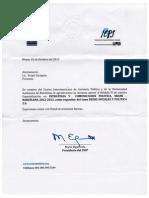 Reconocimiento como expositor en la especialización de Comunicación Política del Centro interamericano de Gerencia Política.