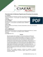 Mendoza et al., 2011. Determinación de Soluciones Espurias para Ecuaciones Irracionales