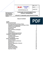 PROJECT STANDARDS and SPECIFICATIONS Instrumentation Project Engineering Rev01