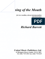 Opening of the Mouth (1997) [Sopr - MSopr - Ens]