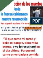 Celebrando la resurreccion de Jesus, celebramos nuestra propia resurreccion.
