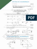 Structural Analysis 1 Jan 2014